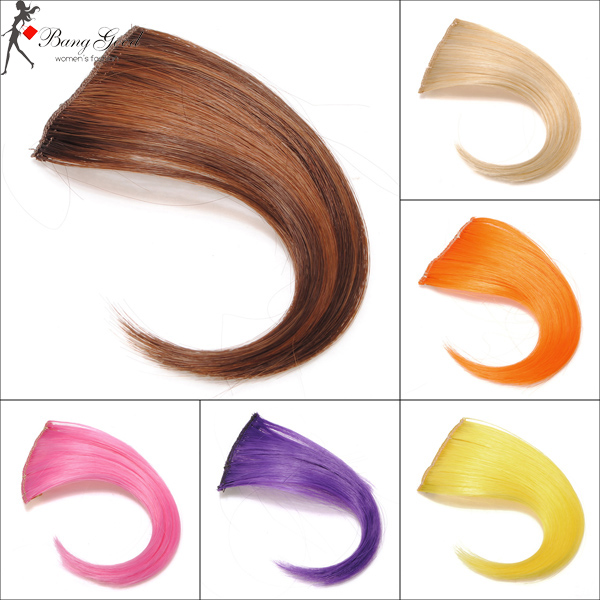 Pure Color Two Clip Hair Bang Piece