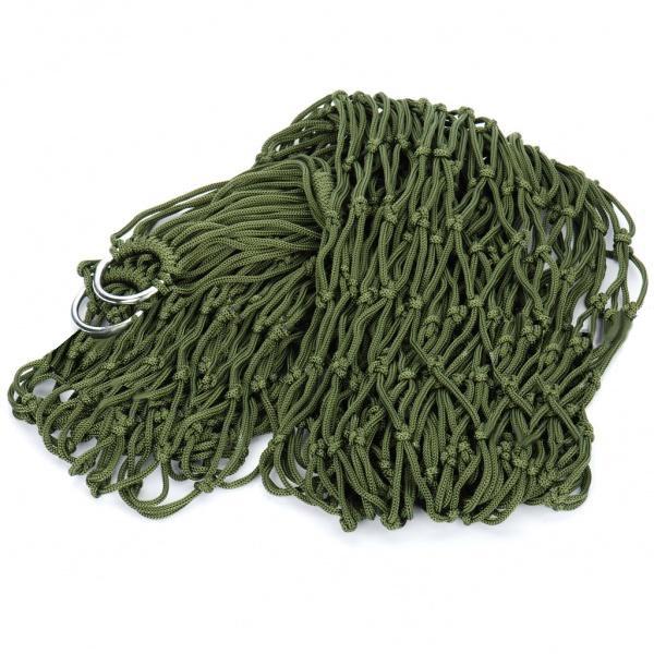 Portable Outdoor Nylon Hammock Army Green 150kg Max