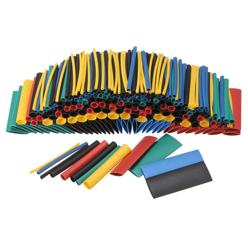 280pcs Assortment Ratio 2:1 Heat Shrink Tubing Tube Sleeving Wrap Kit