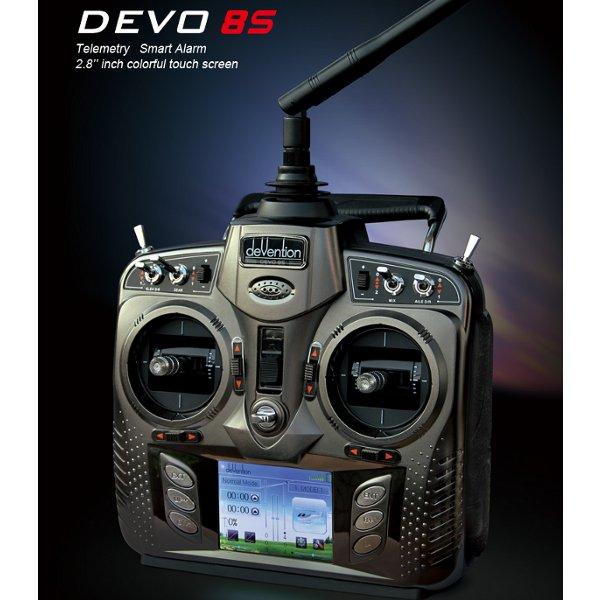 Walkera DEVO 8S WK-DEVO8S 2.4 GHz Transmitter w/ RX801 Receiver