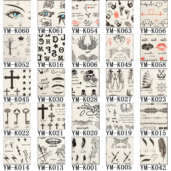 Various Design Temporary Tatto Sticker