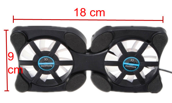 Mini Foldable USB Cooling Fan For 12 Inch to 17 Inch Laptop Notebook