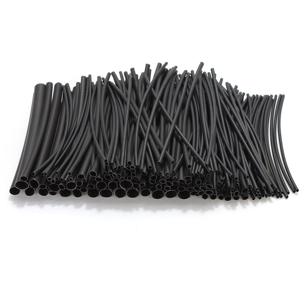180pcs Assortment 2:1 Heat Shrink Tubing Tube Kit Sleeving Wrap 6 Size