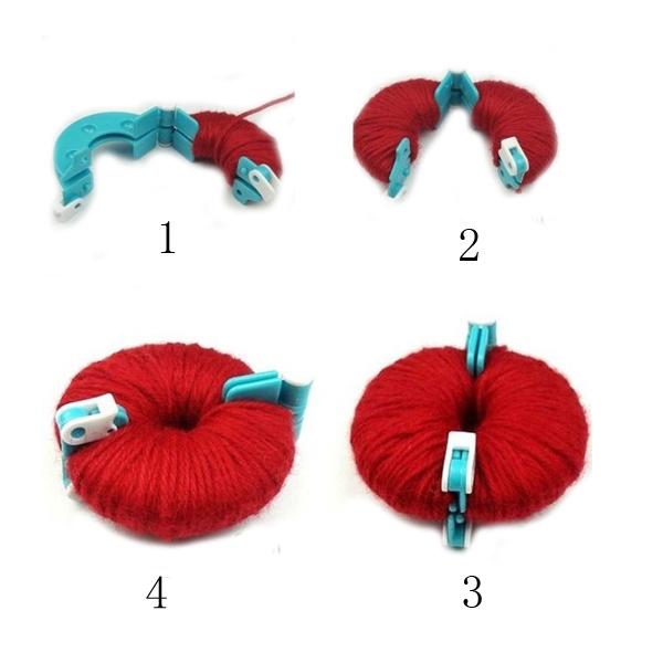 Essential Pom Pom Maker Fluff Ball Weaver Needle Craft Tool Kit