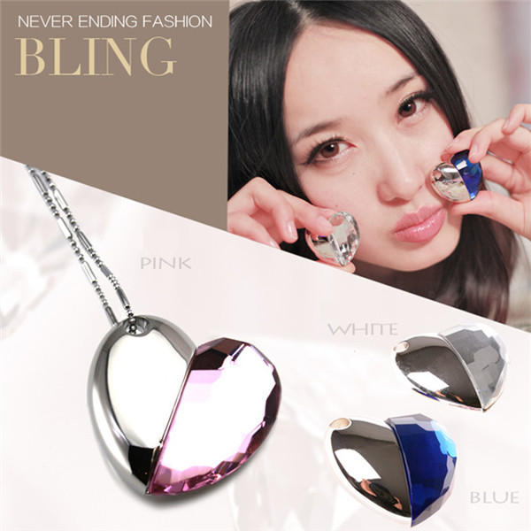 4GB Jewelry Heart Shape Crystal Necklace USB Flash Drive