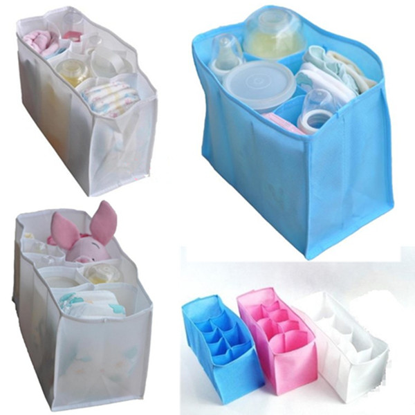 Portable Baby Diaper Nappy Changing 7 Liner Lining Divider Storage Bag