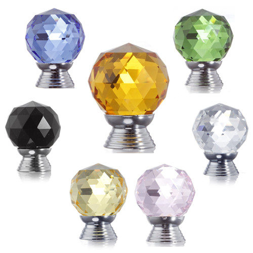 Glass Crystal Cabinet Drawer Knob Pull Door Handle Hardware 3cm