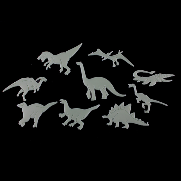 Glow In The Dark Dinosaurs Dical Stickers Fluorescent