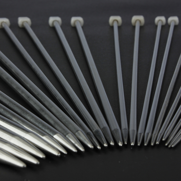 11 Different Sizes Stainless Steel Single Pointed Knitting Needles
