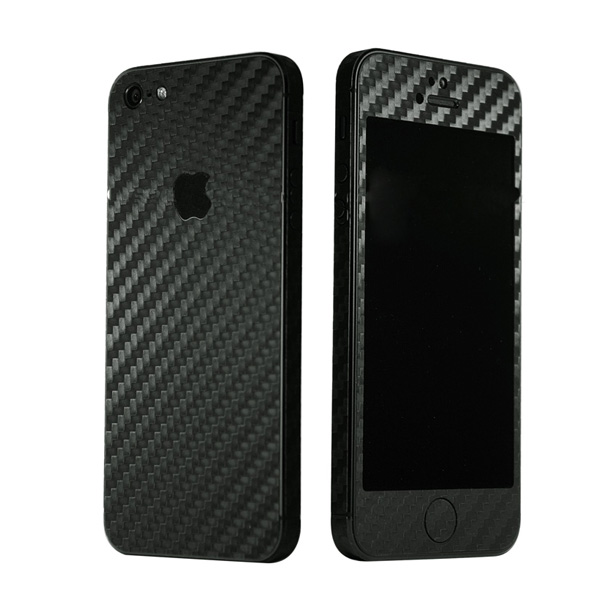 Carbon Fiber Full Body Slim Protector Sticker Skin For iPhone 5