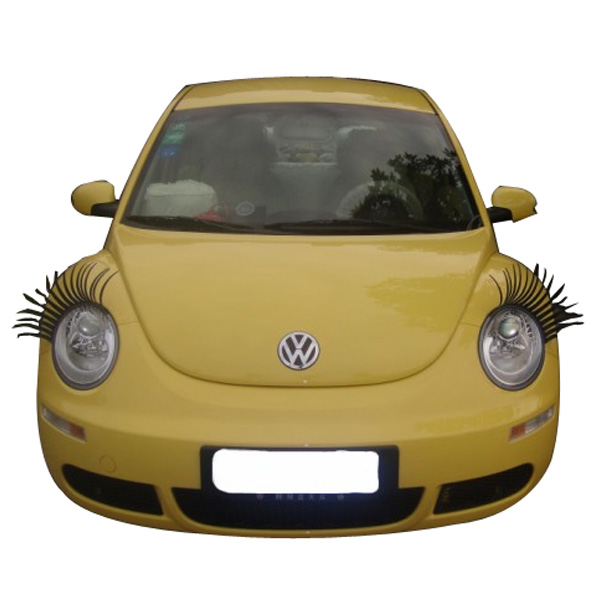 2x 3D Car Headlight Eyelashes Stickers Fashion Cool Universal Black