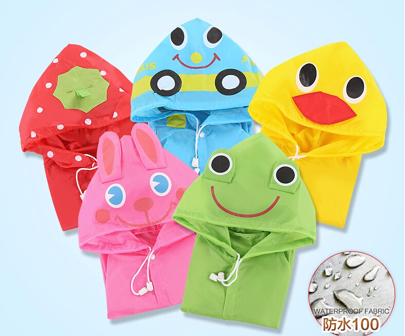 Kids Children Cute Funny Cartoon Rain Gear Raincoat Rainwear