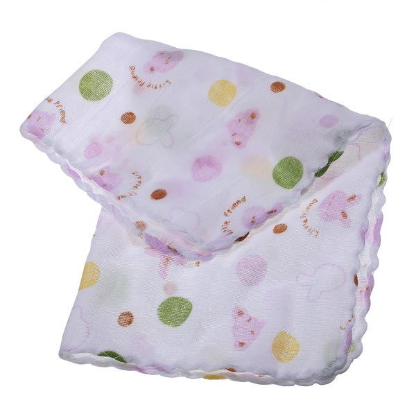 Double Layer Gauze Handkerchief Child Baby Cotton Towel