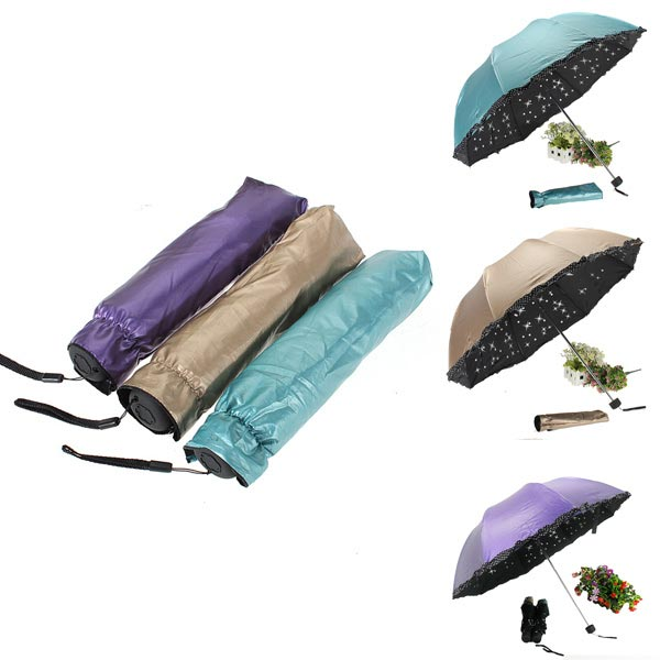 Vinyl Star Super Anti-UV Folding Umbrella