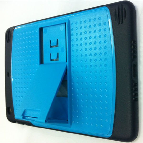 Dual-Colors Holder Robot Proctective Hard Back Case For iPad Mini