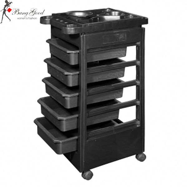 Black SPA Beauty Hair Salon Hairdressing Trolley