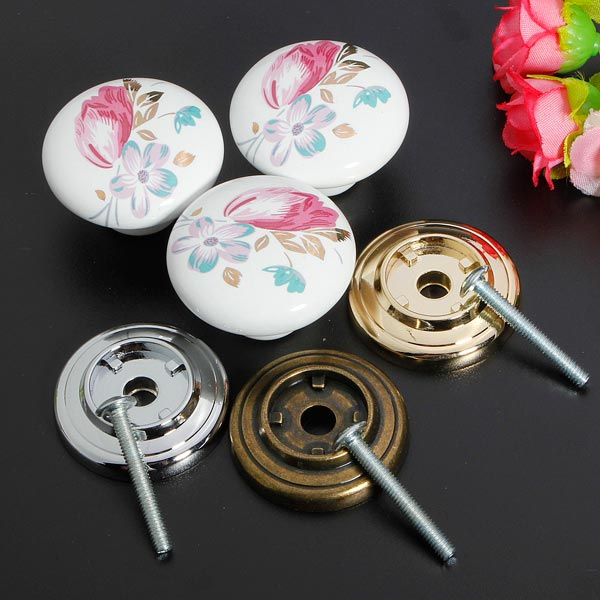 Ceramic Bedroom Kitchen Door Cabinets Cupboard Drawer Knobs Handles