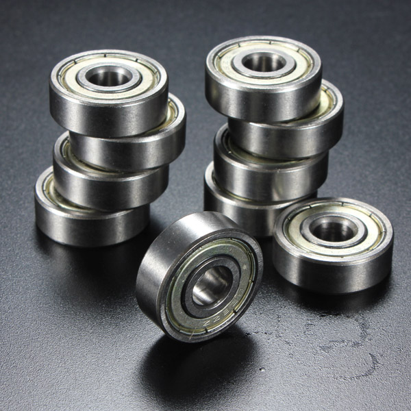 10Pcs 8x24x8mm Metal Sealed Shielded Deep Groove Ball Bearing 628ZZ