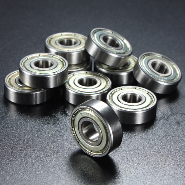 10Pcs 8x22x7mm Metal Sealed Shielded Deep Groove Ball Bearing 608zz