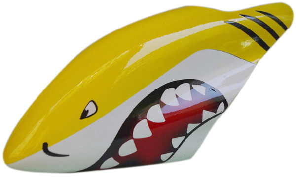 450 B30 Fiberglass Color Printing Hoods Yellow Shark Canopy