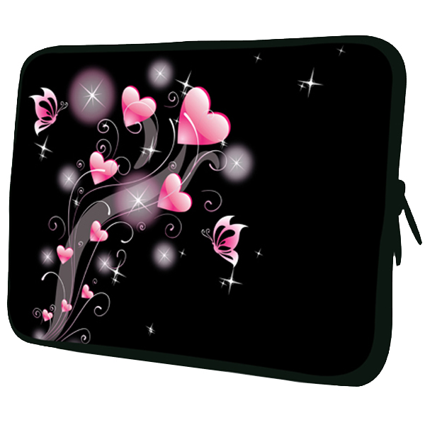 Heart Pattern Spill-resistant Zipper Sleeves Pouch For 7 Inch Tablet