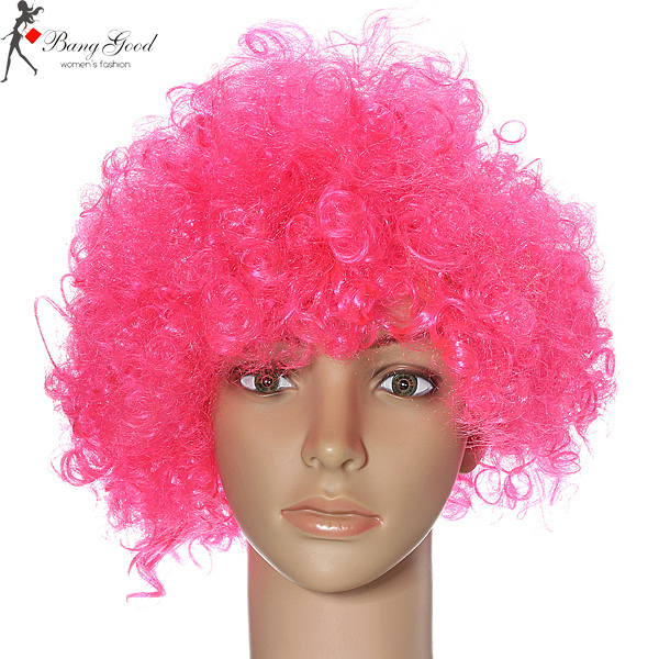 Afro Curly Clown 70s Fancy Disco Unisex Party Wigs