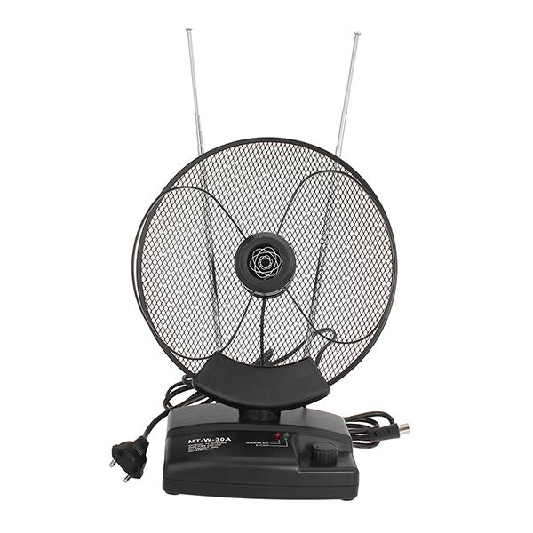 100DBi UHF/VHF/FM /DVB-T Amplified Indoor TV Antenna