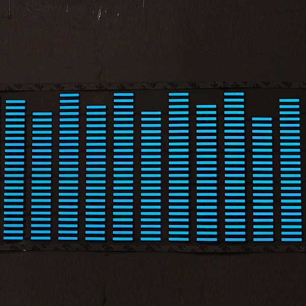 90cm*25cm Flash Car Sticker Music Rhythm LED Sheet Light Lamp