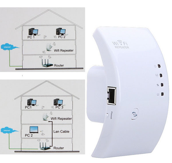 300M Wireless N WPS Wifi Repeater 802.11N Router Expander US Plug