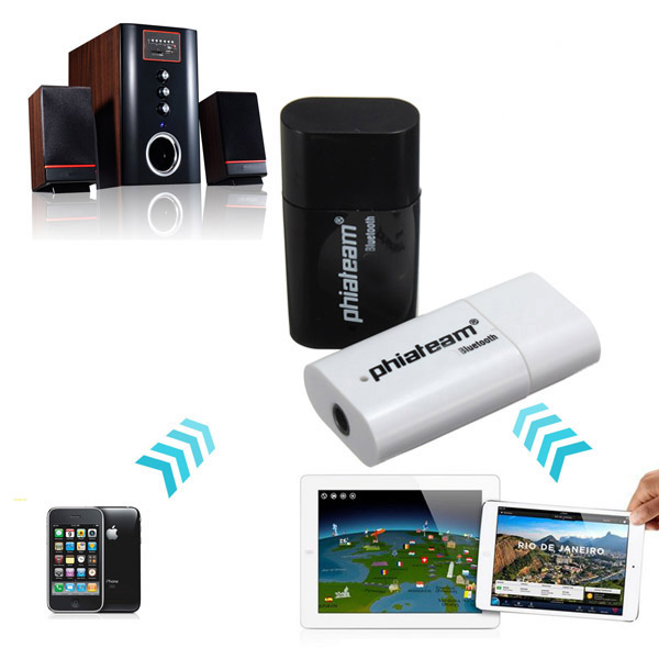 Mini USB Bluetooth Music Receiver Adapter For iPhone Smartphone Device