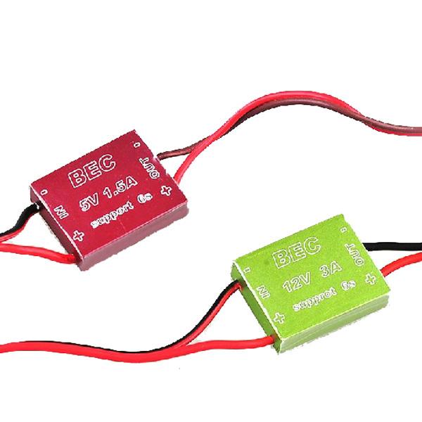 12V 3A/5V 1.5A BEC CNC Shell for 1.2G 5.8G Wireless Audio Video