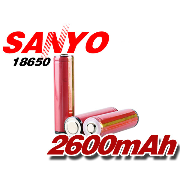 Sanyo 18650 Protected 3.7v 2600mAh Rechargeable Battery 1Pcs