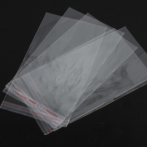100PCS Clear Jewelry Earrings Rings Seal Plastic Packing Bag