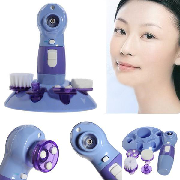 4in1 Blackhead Cleaner Facial Brush Rotary Massage Scrubber