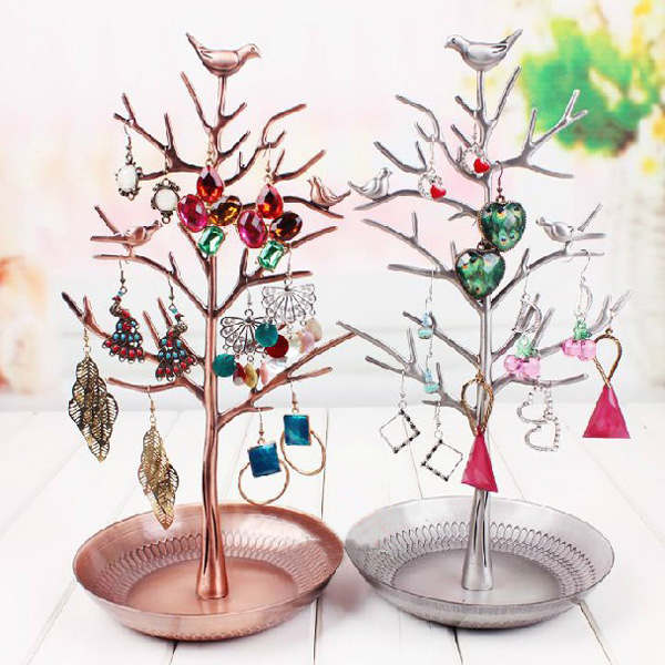 Retro Tree Limb Necklace Earring Ring Jewelry Holder Display Shelf