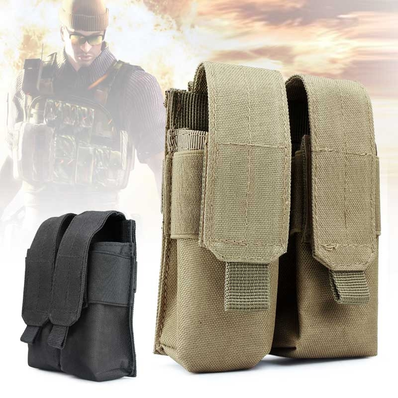 Airsoft Belt Tactical Military Double Magazine Pouch Cartridge Clip Bag