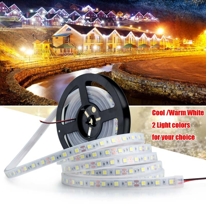 Waterproof 5M 5050SMD 300LED Flexible Strip Light Lamp Cool /Warm White