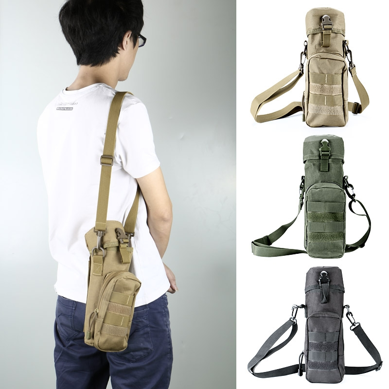 Tactical Molle Water Bottle Hydration Pouch Bag Carrier for Hiking ...