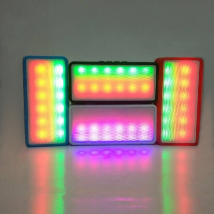 Portable Wireless Bluetooth Mini Colorful LED Lights Stereo Speaker TF Slot