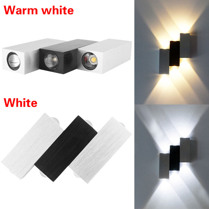 Aluminum 6W Rectangle Stairs Up Down LED Wall Sconces Light Hall Porch