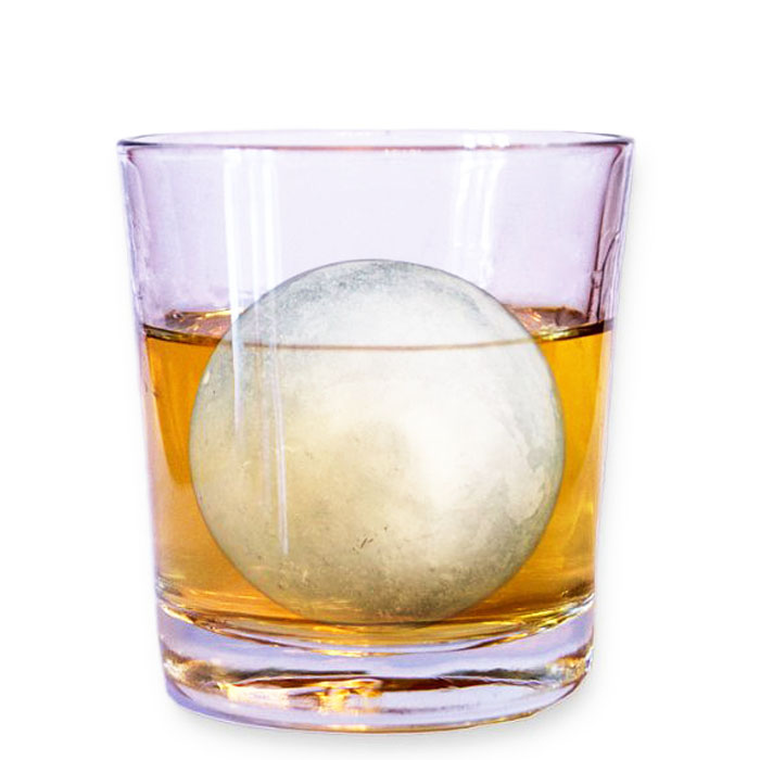 Round Ice Balls Maker Tray 4 Large Sphere Molds Cube Whiskey Cocktails