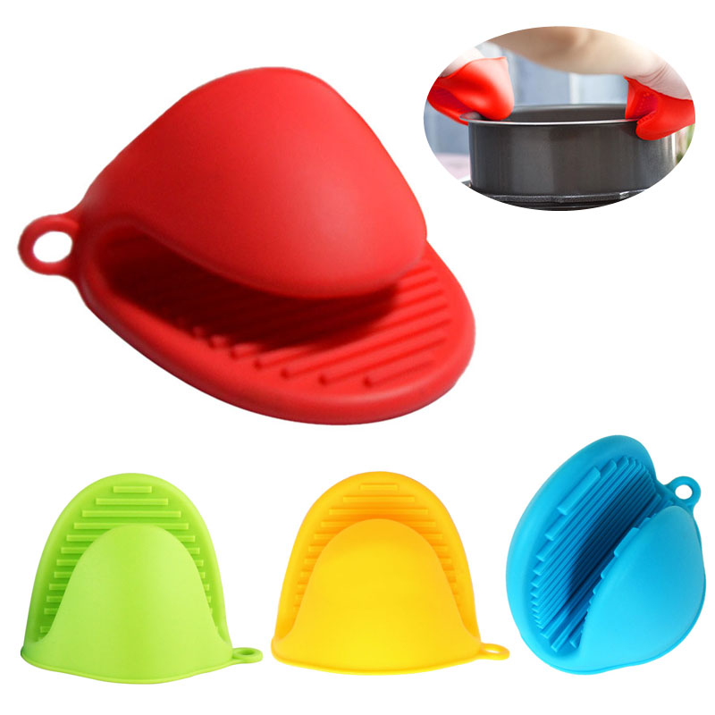 Anti Slip Silicone Heat Resistant Oven Mitt Kitchen Baking Anti Scald Glove
