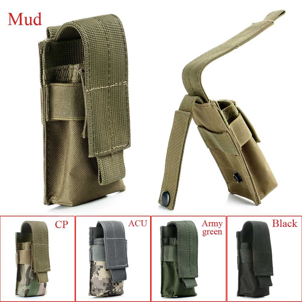 Portable Tactical Military Flashlight Torch Belt Holster Holder Case Pouch