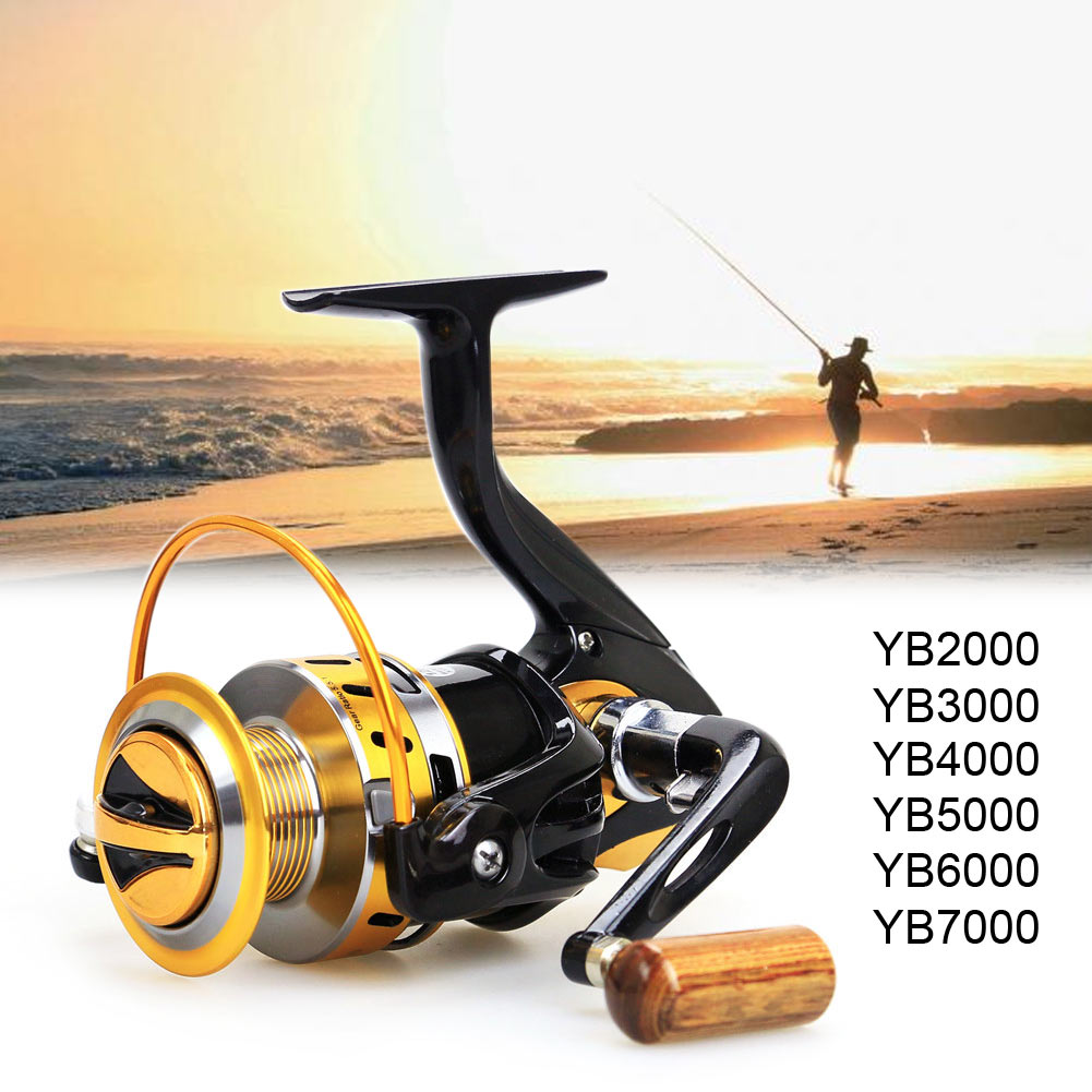 12BB Ball Bearings Portable Left/Right Metal Spinning Reel YB2000-7000