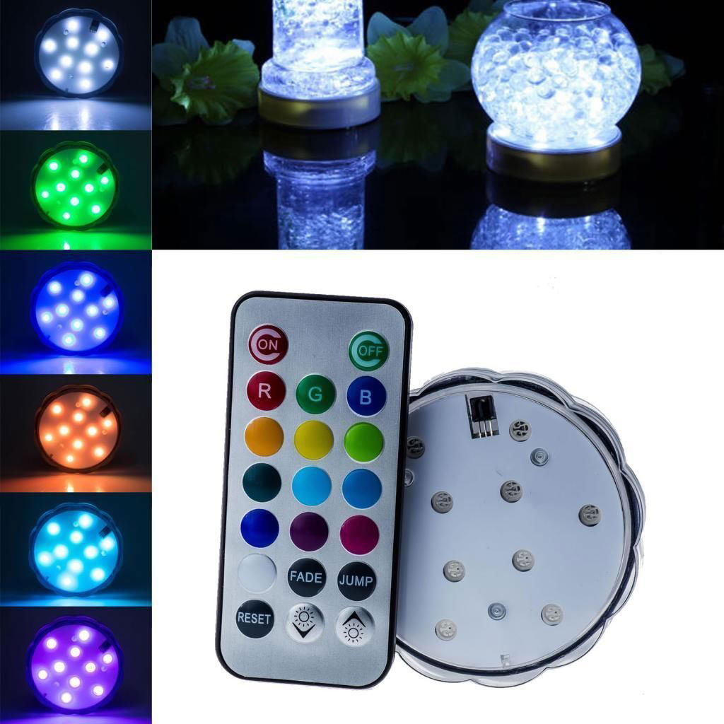Multi Color Waterproof Light Submersible LED Light with Romote Control