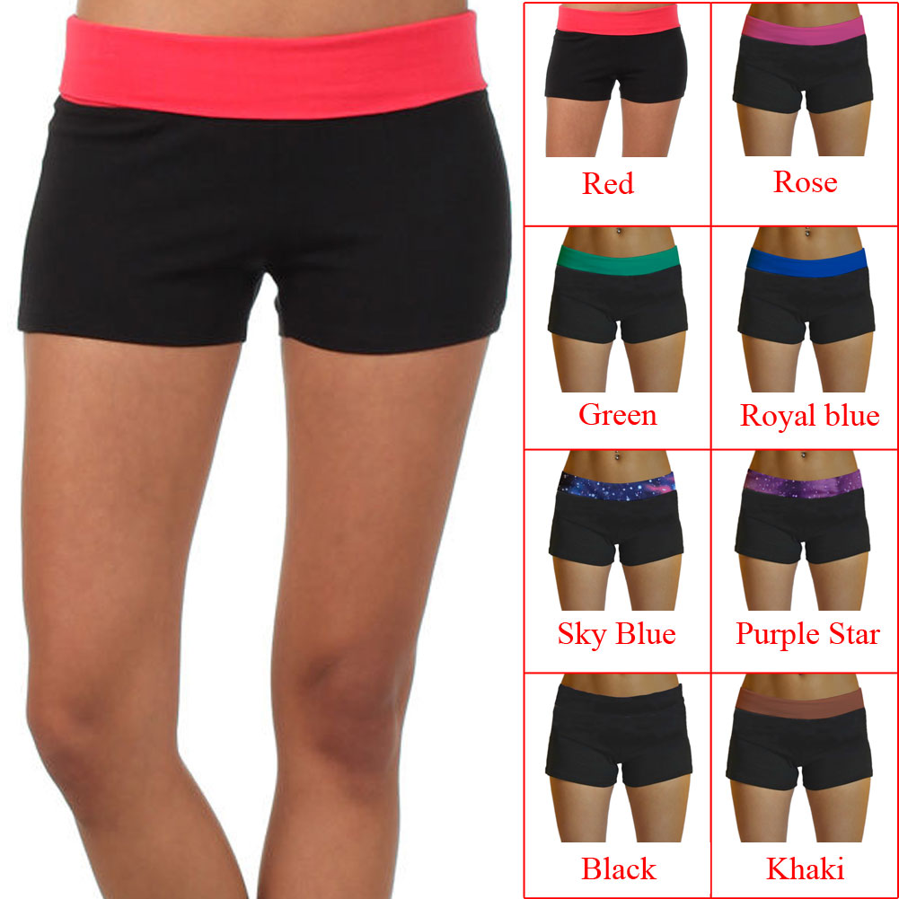 6c7f190868 Details about Lady Summer Gym Sport Skinny Waistband Sexy Elastic Cozy Short  Pants Quick-dry