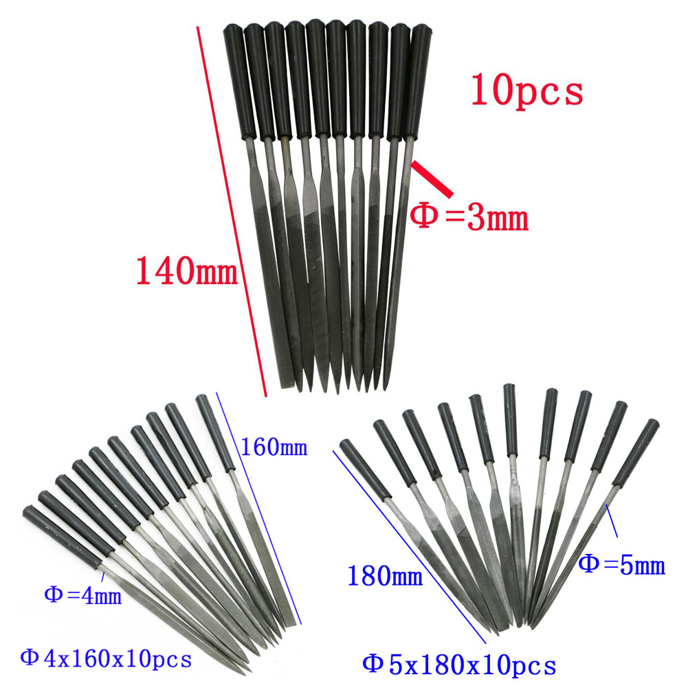 Fashion 10 Pcs Set of Sculpting Carving Woodworking Rasp Needle File