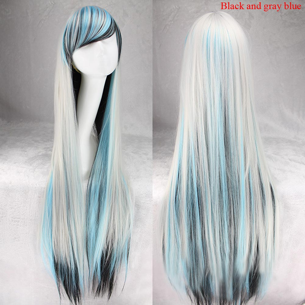 Women Fashion Lady Long Hair Straight Party Cosplay Wigs Full