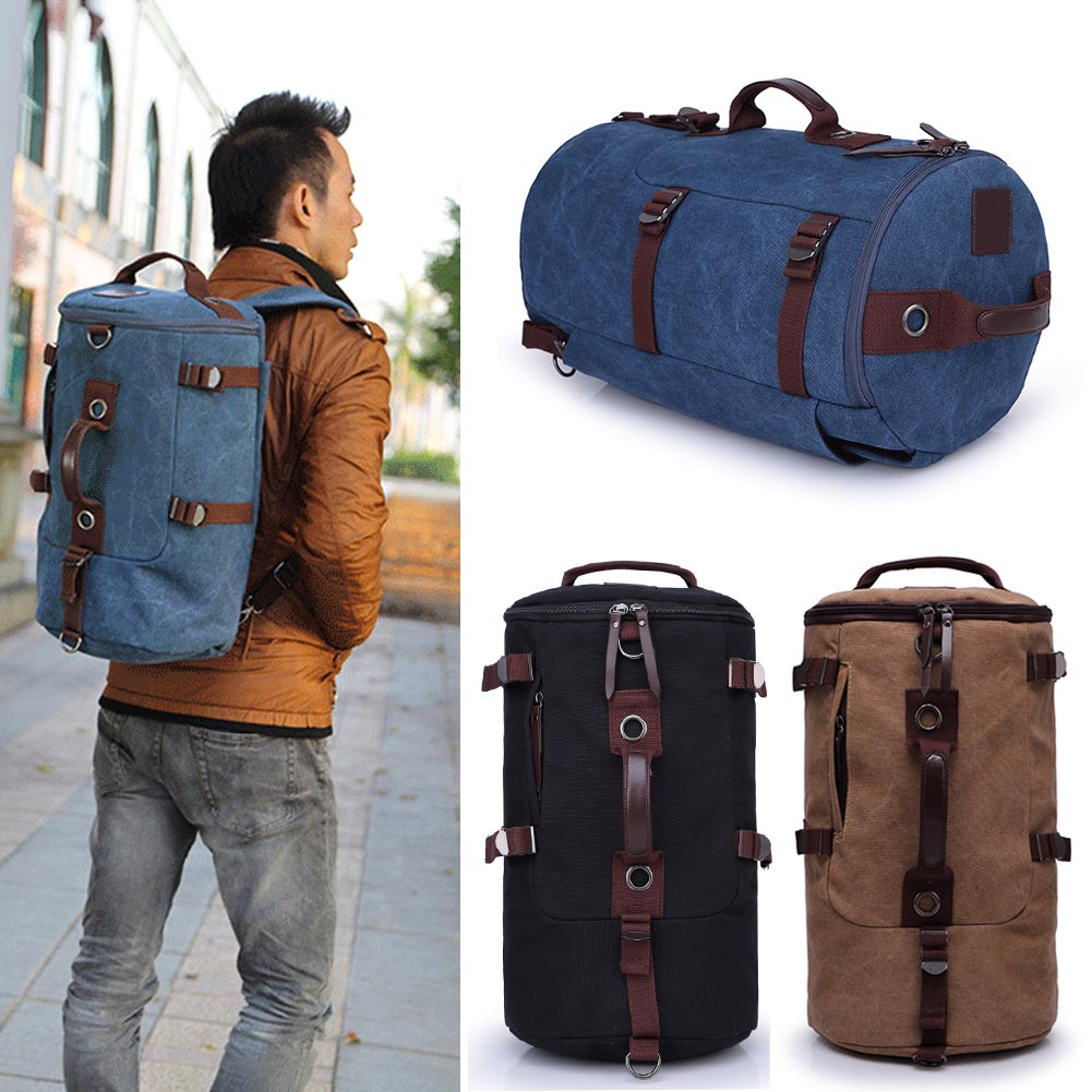 Men Vintage Canvas Backpack Rucksack Laptop Shoulder Outdoor Duffle Bag 4960d6ff407