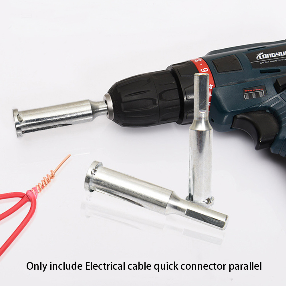 Universal-Electrical-Cable-Twist-Quick-Connector-Drill-Bit-Wire-Stripper-Tool thumbnail 3
